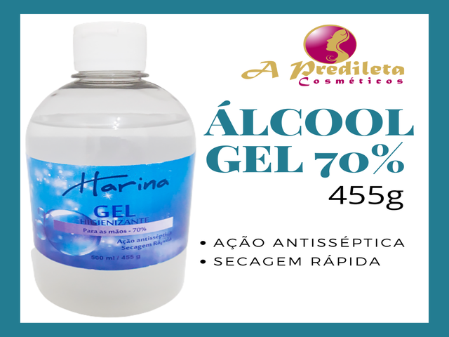 Álcool Gel 70% de 500ml
