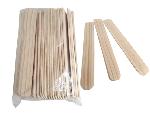 Pacote com 50 Unidades Espátulas de Madeira Resistente para Depilação