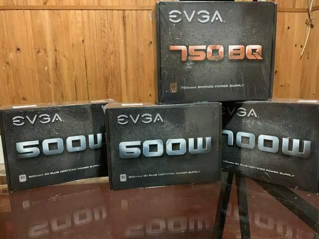 Fontes EVGA  750W, 700W, 600W, 500W -  Novas Lacradas na caixa