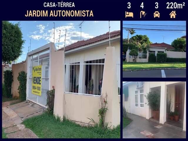 Casa Alto Padrão no Jardim Autonomista em Campo Grande - MS