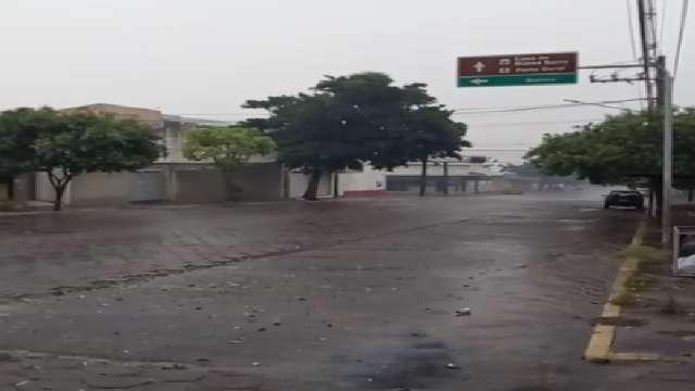 Chuva registrada na cidade de Corumbá