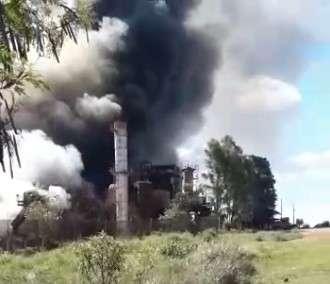 Fumaça de incêndio em usina foi vista de longe