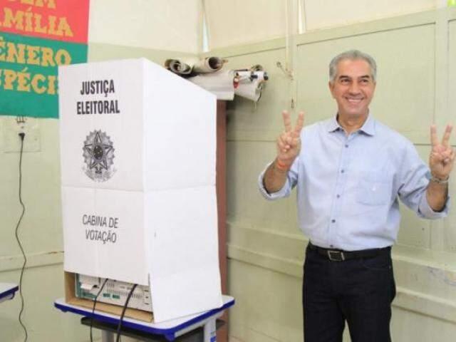 Reinaldo Azambuja conquistou segundo turno neste domingo. (Foto: Marina Pacheco)
