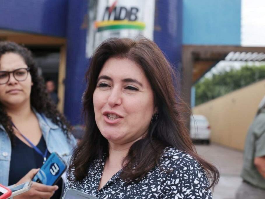Senadora Simone Tebet (MDB-MS) durante en(Foto: Fernando Antunes/Arquivo).