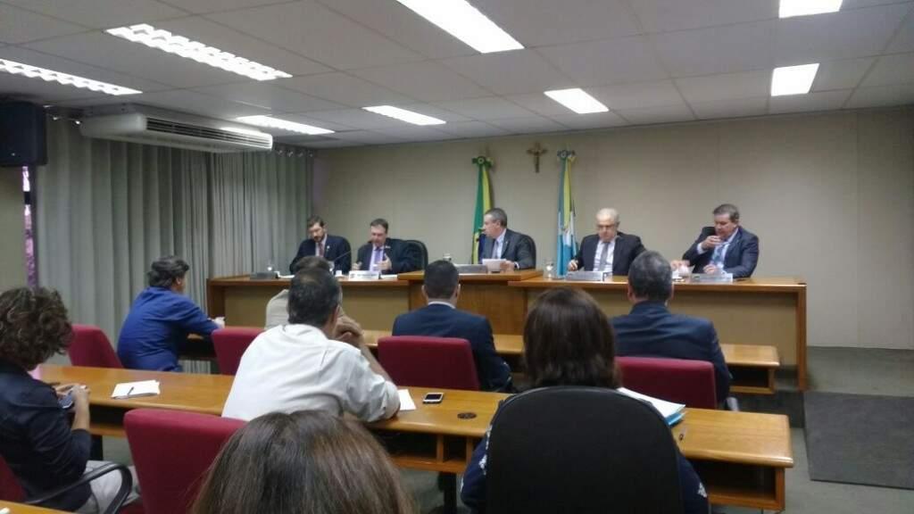 Reunião da CPI da JBS, na tarde desta quarta-feira, 02, a primeira depois do recesso parlamentar (Foto: Lucas Junot)