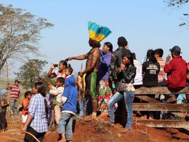 Ocupação indígena em Caarapó: agora, processos de demarcação são atribuição do Mapa (Foto/Arquivo: Helio de Freitas)