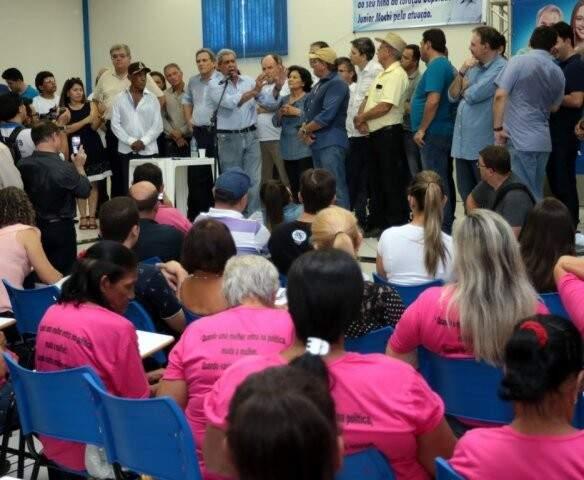 Puccinelli durante encontro regional (Foto: Coxim/Divulgação)