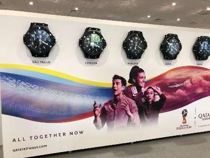 Relógios em locais da Copa mostram São Paulo como capital do Brasil
