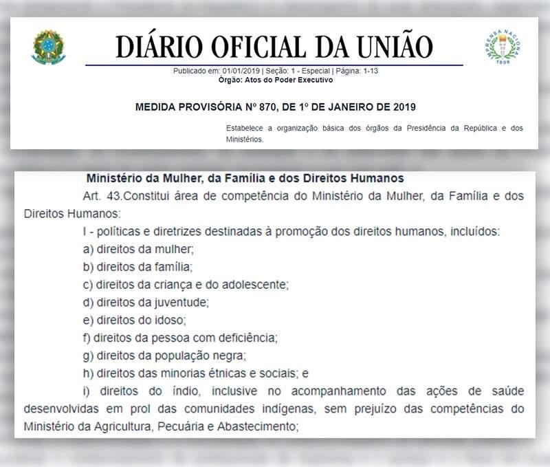 Edição do Diário Oficial da União de terça-feira (Foto: Reprodução)