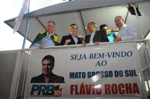 Com aceno ao agronegócio, presidenciável do PRB chega a Campo Grande