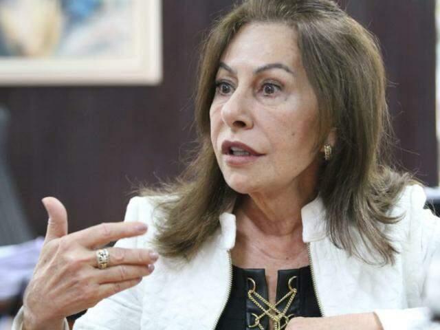 Presidente do TRE-MS, Tânia Garcia de Freitas Borges, apresentou versão sobre cheque apreendido (Foto: Saul Schramm)