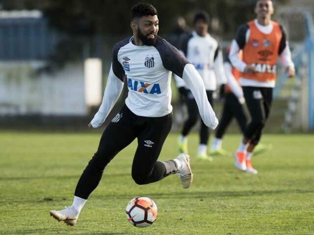 Gabriel está confirmado no comando de ataque do Peixe (Foto: Ivan Storti/Santos FC)