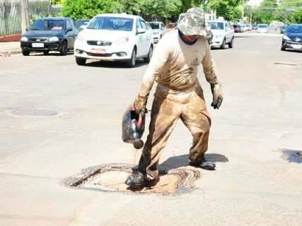 Novas equipes de tapa-buraco devem ser colocadas nas ruas no fim do mês