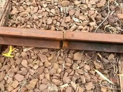 Trilhos não são soldados à ferrovia e podem ser furtados novamente