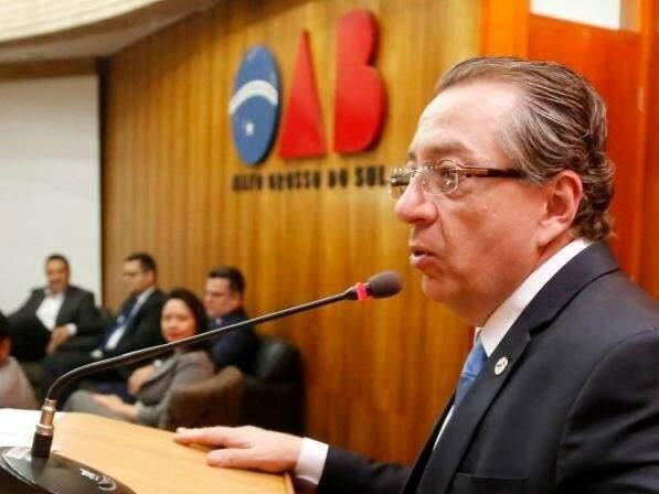 Mansour Karmouche, presidente da OAB/MS, disse que a entidade se manterá contra violações à Constituição Federal e Estadual (Foto: Divulgação/OABMS)