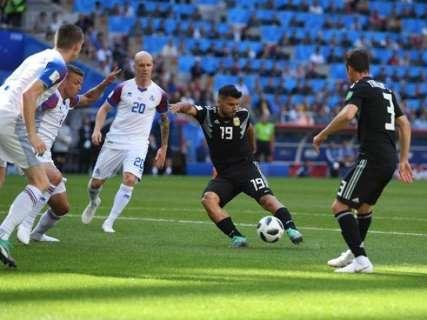 Argentina estreia na Copa com empate de 1 a 1 sobre a Islândia em Moscou