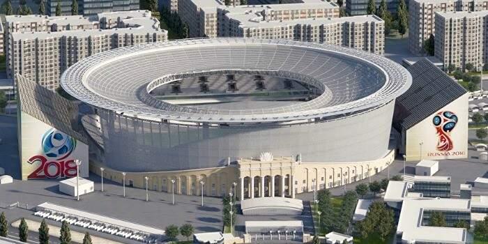 A Arena Ekaterimburgo custou R$ 1,04 bilhão e será palco de quatro jogos da fase de grupos (Foto: Divulgação)