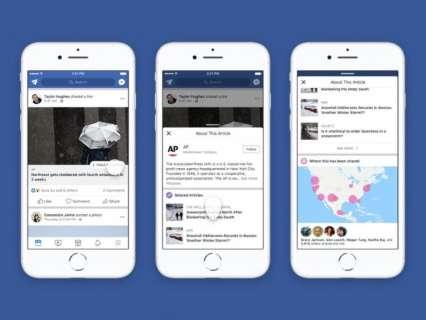 """Facebook lança """"botão de contexto"""" no combate ao fake news"""