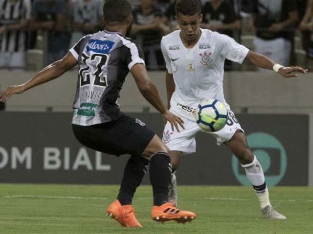Registro da partida desta noite em Fortaleza. (Foto: Corinthians FC)