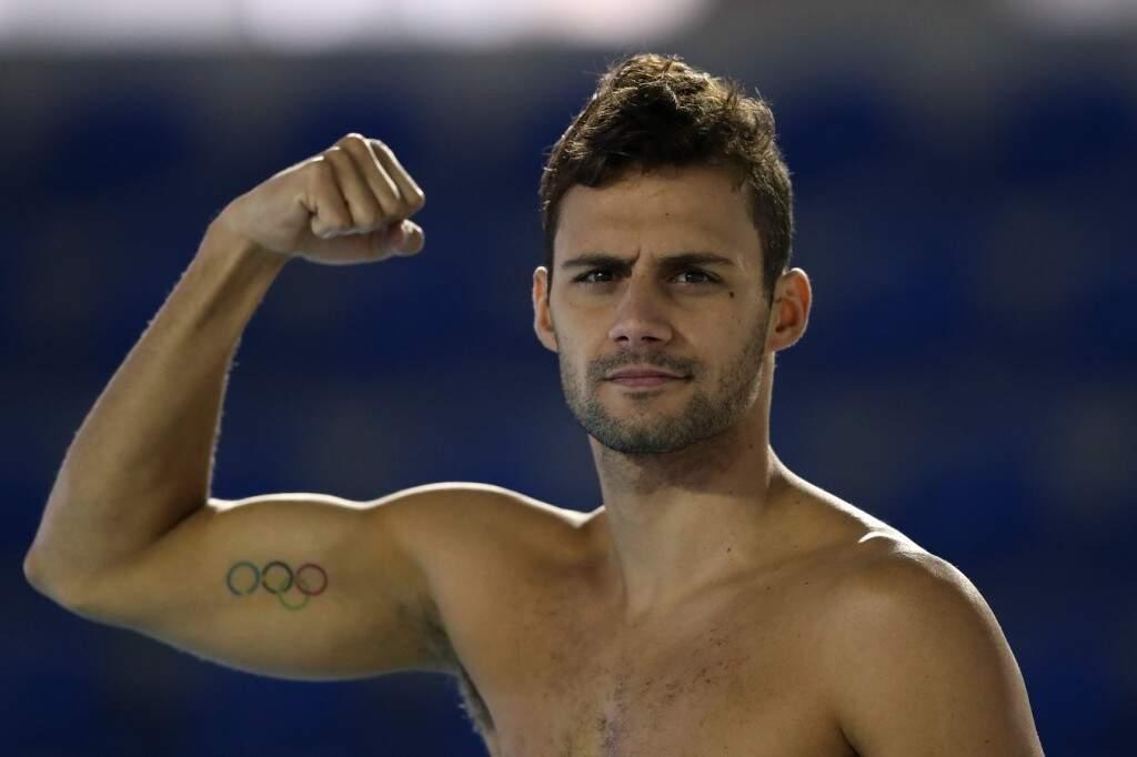 """O nadador campo-grandense, Leonardo de Deus, um dos principais atletas da natação brasileira na atualidade, vai dar uma """"canja"""" nos 100 borboleta neste sábado no Rádio Clube, em Campo Grande"""