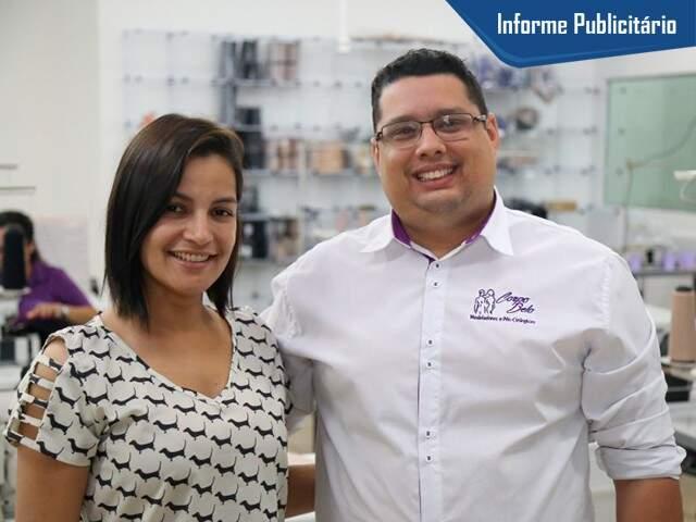 Ivani e José Henrique na fábrica recém inaugurada. (Foto: Alcides Neto)