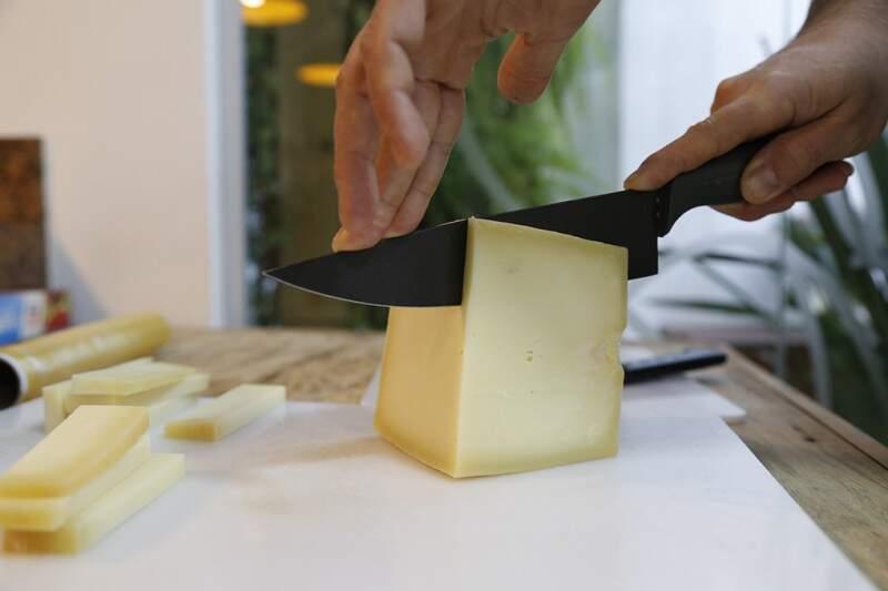 O queijo foi o grande ingrediente da noite, aparecendo em todos os pratos, do principal a sobremesa (Foto: Gerson Walber)