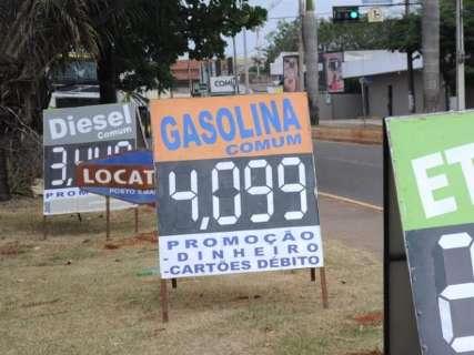 Preço máximo da gasolina em Campo Grande é o 4º menor entre as capitais