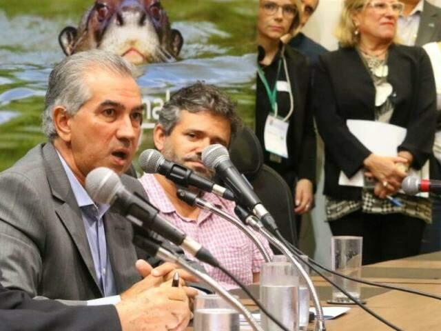 Governador Reinaldo Azambuja participa de seminário sobre preservação e recuperação do Pantanal. (Foto: André Bittar)