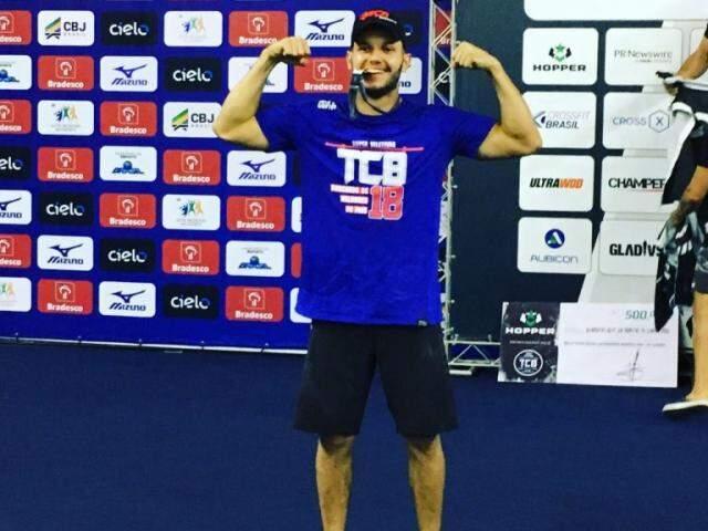 Diógenes Hartkopf, de 27 anos, é da academia CrossFit, de Campo Grande (Foto: Arquivo pessoal)