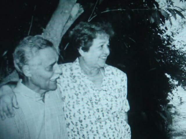 Wilson ao lado da mulher, Nelly Martins, falecida em 2003. (Foto: Reprodução da internet)
