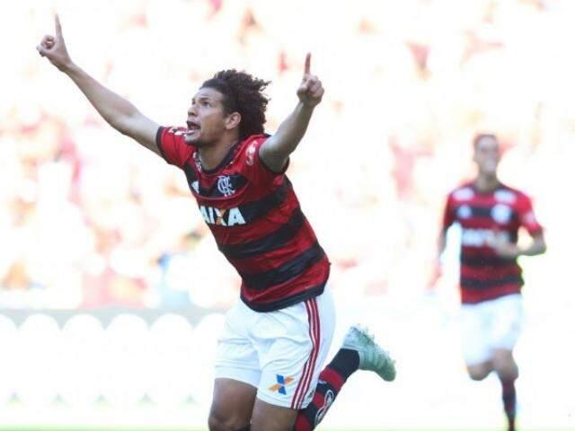 Willian Arão vibra com gol que garantiu vitória do Flamengo sobre o Galo (Foto: Divulgação)