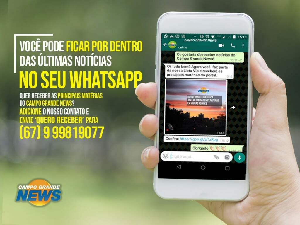 Fique bem informado: receba notícias do Campo Grande News no Whatsapp