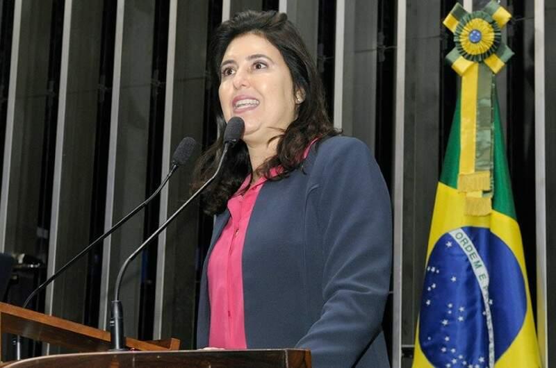 Simone Tebet defendeu a manutenção da decisão do STF(Foto:Arquivo)
