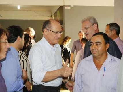 Em Dourados, Alckmin diz que crescimento da economia é meta para o país