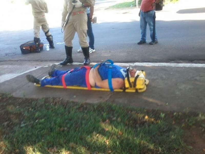 Ciclista sofreu ferimentos leves.