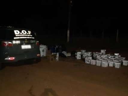 DOF apreende mil maços de cigarros do Paraguai em ônibus na fronteira