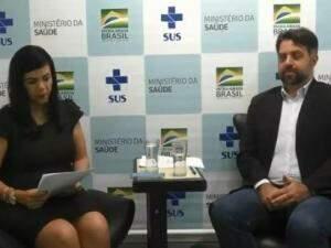 Ricardo Said, em entrevista coletiva on line (Reprodução/vídeo)