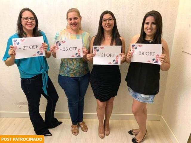 Maria Helena, Ana Cristina, Fernanda e Aline depois de tratamento na Clínica Magrass. (Foto: Divulgação)