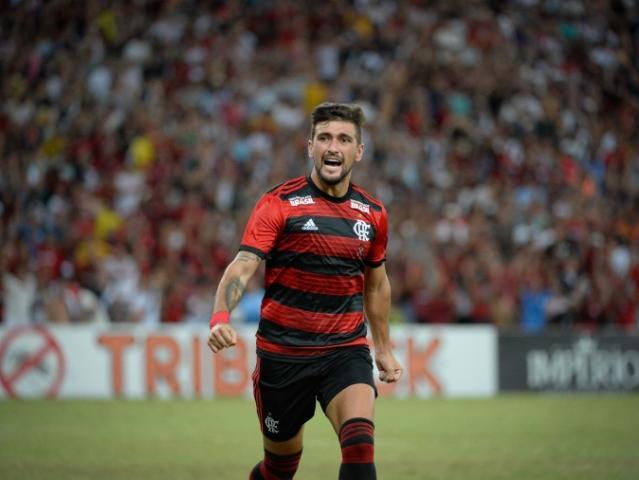 Arrascaeta foi quem abriu o placar em campo para o Flamengo. (Foto: Alexandre Vidal/Flamengo)