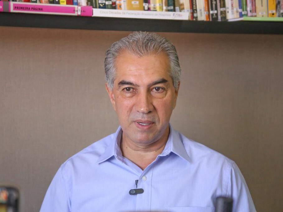 Reinaldo Azambuja, do PSDB, durante entrevista ao Campo Grande News. (Foto: Paulo Francis/Arquivo).