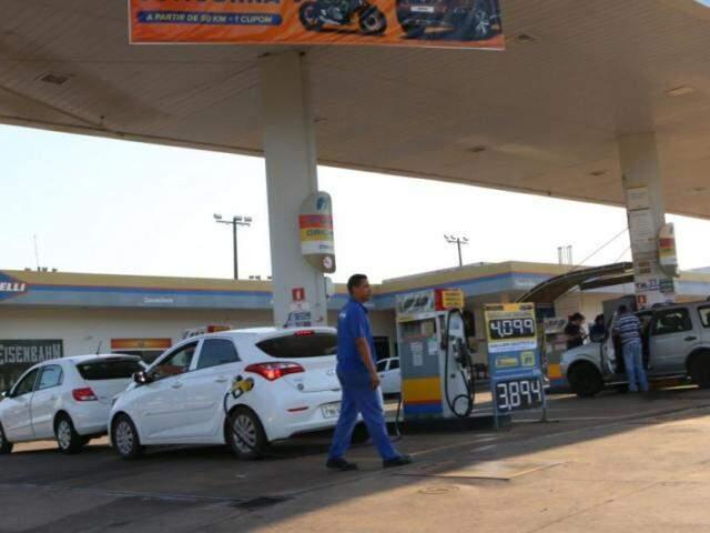 Posto de gasolina da Capital. (Foto: Paulo Francis)