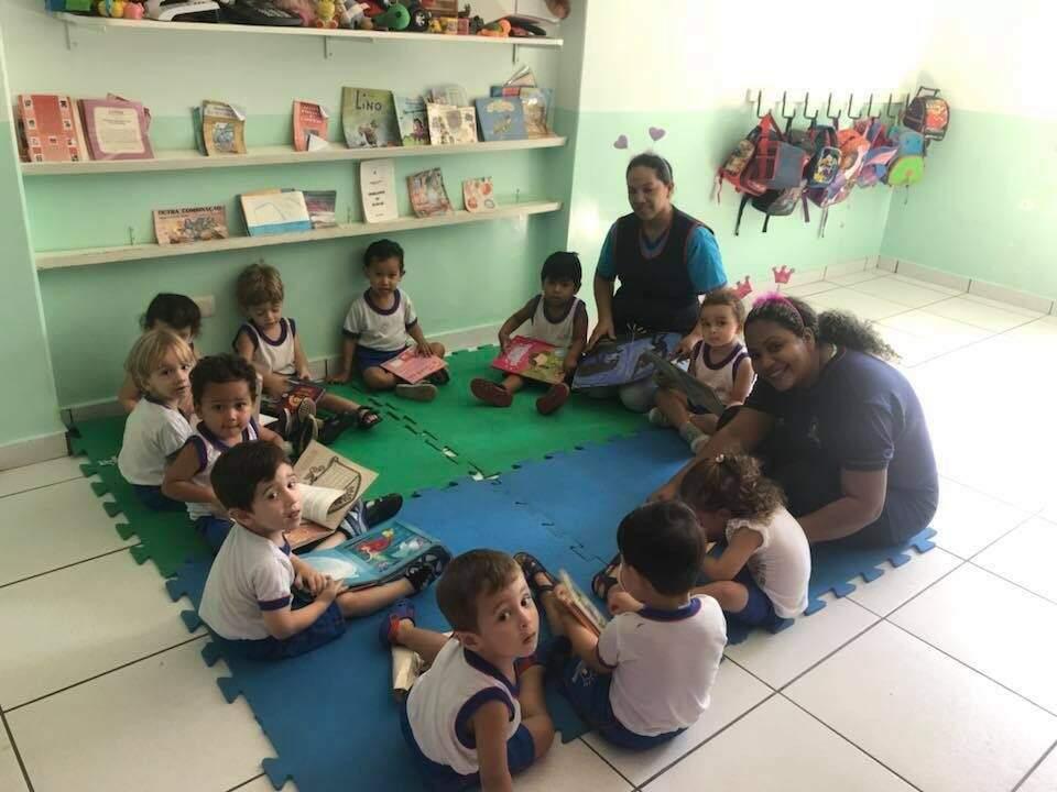 Aula pedagógica da turminha do maternal -Foto: Divulgação