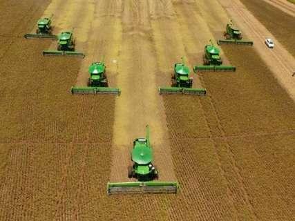 MS termina colheita com safra recorde de 8,5 milhões de toneladas de soja
