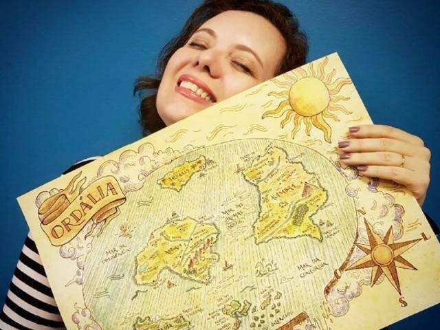 Na mesma levada histórica, a autora brincou com um dos mitos medievais mais conhecidos, e criou até um mapa para provar que Ordália é plana. (Foto: Divulgação)
