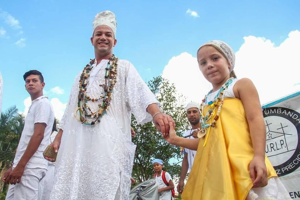Famílias demonstraram a importância do respeito a religiosidade com alegria e amor. (Foto: Marcos Ermínio)