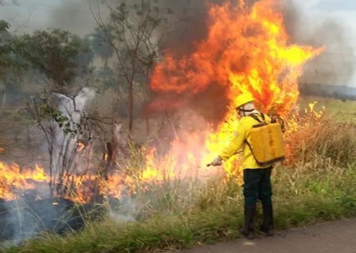 Imagem feita pelo grupo do Prevfogo, em Corumbá. (Foto: Divulgação)