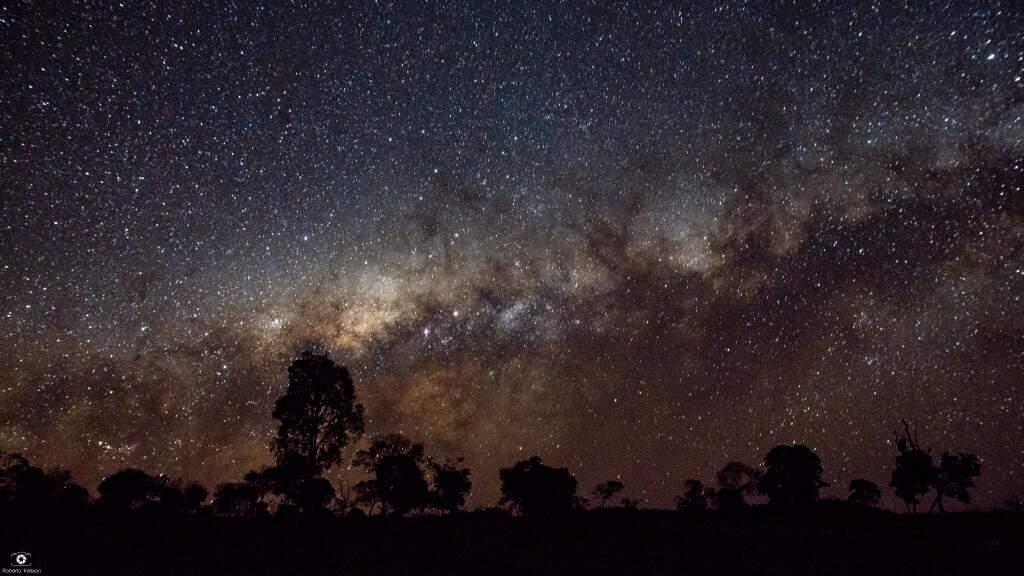 Céu noturno capturado pelas lentes de Roberto aqui em Mato Grosso do Sul (Foto: Roberto Kelsson)