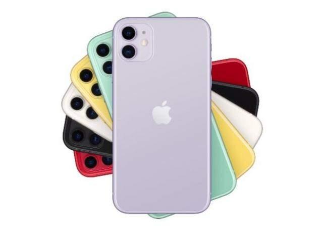 """Modelo mais """"básico"""" do celular será vendido nas cores branca, preta, verde, amarela, roxo e RED. (Foto: Apple/BR)"""