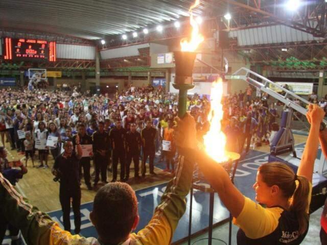 Cerimônia de abertura dos Jogos Abertos do ano passado (Foto: PMCG/Divulgação)