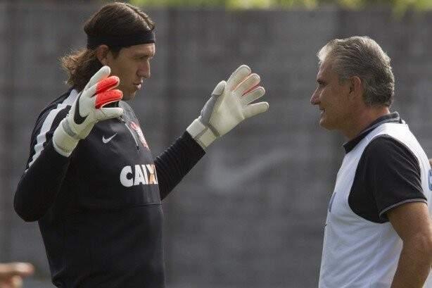 O goleiro Cássio volta a trabalhar sob o comando do técnico Tite, agora na Seleção (Foto: Arquivo)